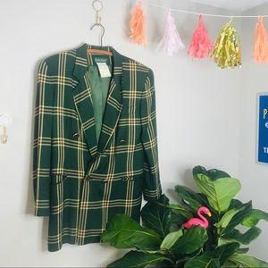 VTG 70's Green Double Breasted Oversized Blazer